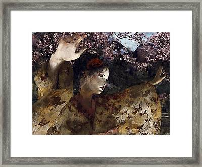 Maiko Dreams Framed Print by Maynard Ellis