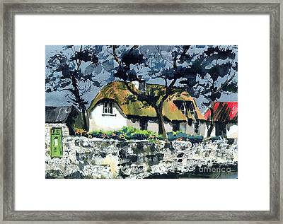 Mail Box In Kilmore Wexford Framed Print by Val Byrne