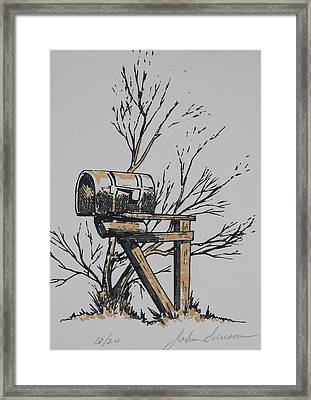 Mail Box Framed Print by John  Svenson