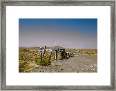 Mail Call In Arizona Framed Print by Deborah Smolinske