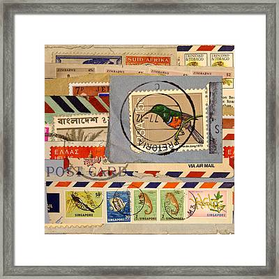 Mail Collage South Africa Framed Print