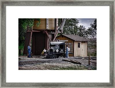 Mail Delivery On The Rio Grande Southern Framed Print by Ken Smith