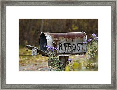 Mail For R Frost - D005926 Framed Print by Daniel Dempster