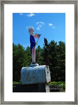Mail For Uncle Sam Framed Print