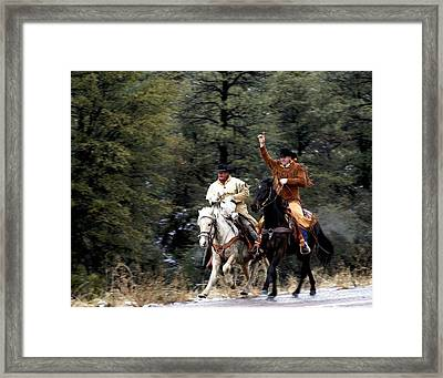 Mail Handoff Framed Print