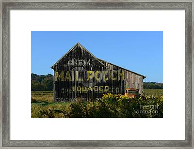 Mail Pouch Barn Framed Print by Paul Ward
