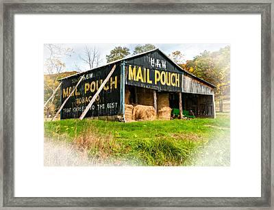 Mail Pouch Barn Vignette Framed Print by Steve Harrington
