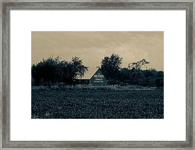 Mail Pouch Tobacco Barn Framed Print by Off The Beaten Path Photography - Andrew Alexander