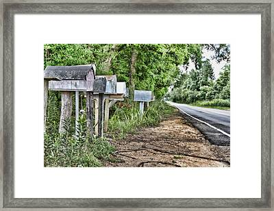 Mail Route Framed Print by Scott Pellegrin
