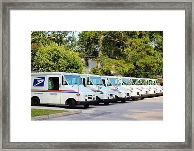 Mail Trucks Framed Print