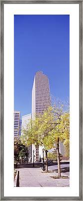 Mailbox Building In A City, Wells Fargo Framed Print