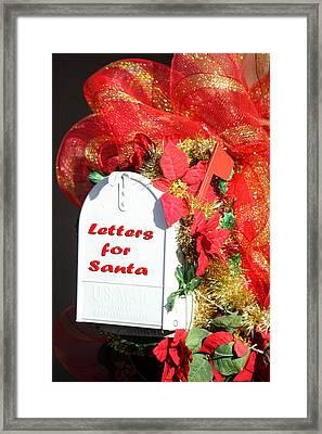Mailbox For Santa Framed Print by Linda Phelps