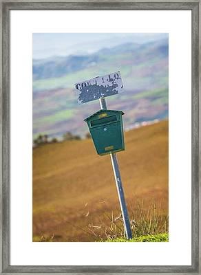 Mailbox, Spain Framed Print by Ken Welsh
