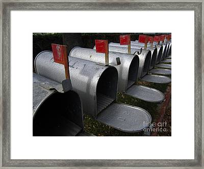 Mailboxes Framed Print by Dan Julien