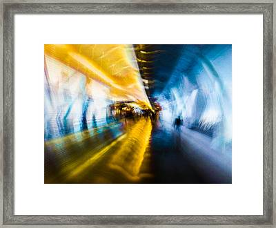 Main Access Tunnel Nyryx Station Framed Print by Alex Lapidus