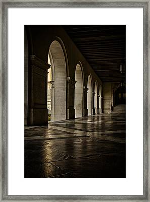 Main Building Arches University Of Texas Framed Print by Joan Carroll