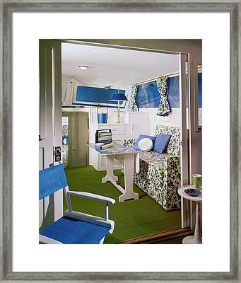 Main Cabin Of A Boat Framed Print by Bill Margerin