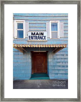 Main Entrance Framed Print by MaryJane Armstrong