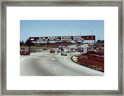 Main Gate 7th Inf. Div Fort Ord Army Base Monterey Calif. 1984 Pat Hathaway Photo Framed Print