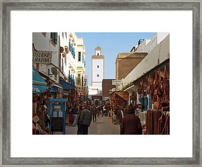 Main Market Street In Essaouira, Morocco Framed Print