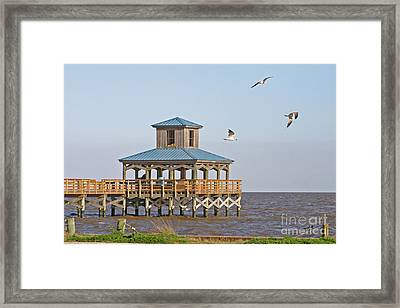 Main Pier At Pleasure Island Framed Print by D Wallace