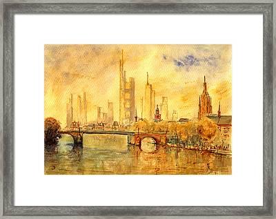 Main River Frankfurt Framed Print by Juan  Bosco