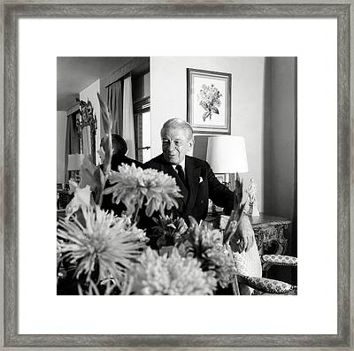 Main Rousseau Bocher In His Living Room Framed Print by Horst P. Horst