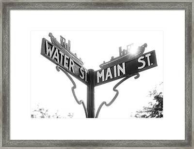 Framed Print featuring the photograph Main St II by Courtney Webster