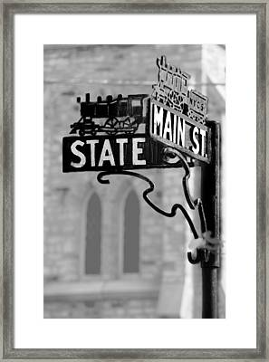 Framed Print featuring the photograph Main St IIi by Courtney Webster