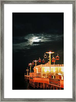 Main St Pier Sky Lift Framed Print by Paulette Maffucci
