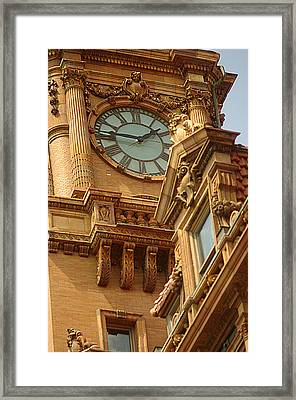 Main St Station Clock Tower Richmond Va Framed Print by Suzanne Powers