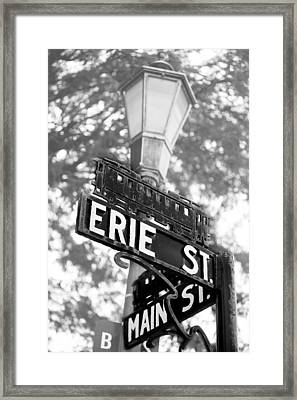 Main St V Framed Print