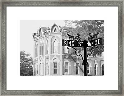 Framed Print featuring the photograph Main St Vi by Courtney Webster