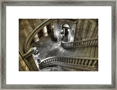 Main Staircase From Above Framed Print by Ed Cilley