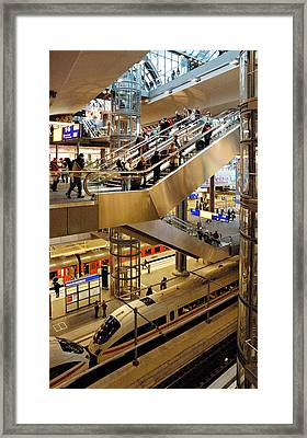Main Station Berlin Germany Framed Print by David Davies