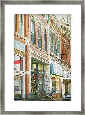 Main Street America Street Scene Photograph Framed Print