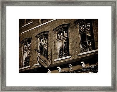 Main Street Antiques Framed Print