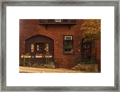 Main Street At Halloween Framed Print