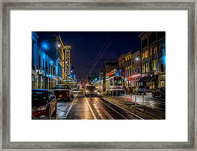 Main Street Blues Framed Print