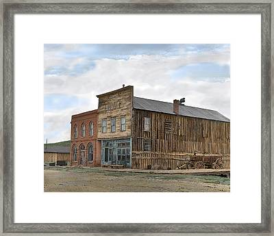 Main Street Bodie Framed Print by Mel Felix