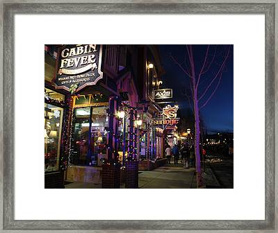 Main Street Breckenridge Colorado Framed Print by Fiona Kennard
