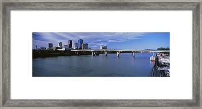 Main Street Bridge Across Arkansas Framed Print