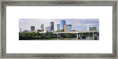 Main Street Bridge Across The Arkansas Framed Print