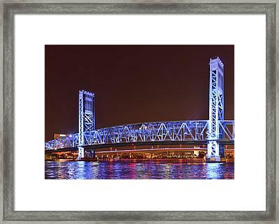 Main Street Bridge Jacksonville Framed Print by Christine Till