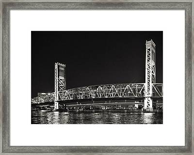 Main Street Bridge Jacksonville Florida Framed Print