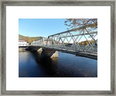 Main Street Bridge Shelbourne Falls  Framed Print