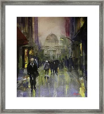Main Street Framed Print by Carlos Herrera