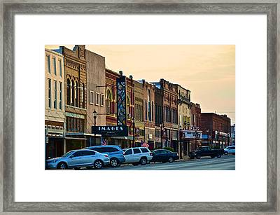 Main Street Denison Framed Print