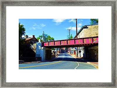 Main Street - Ellicott City Framed Print
