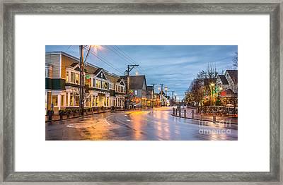 Main Street Freeport Framed Print by Benjamin Williamson